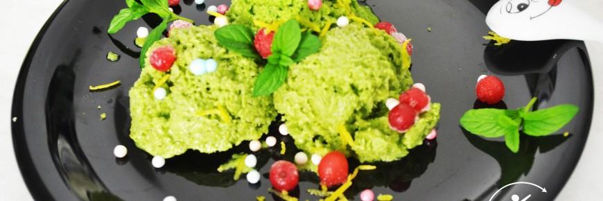 inghetata sanatoasa cu avocado, spanac, kiwi menta fantastic fit